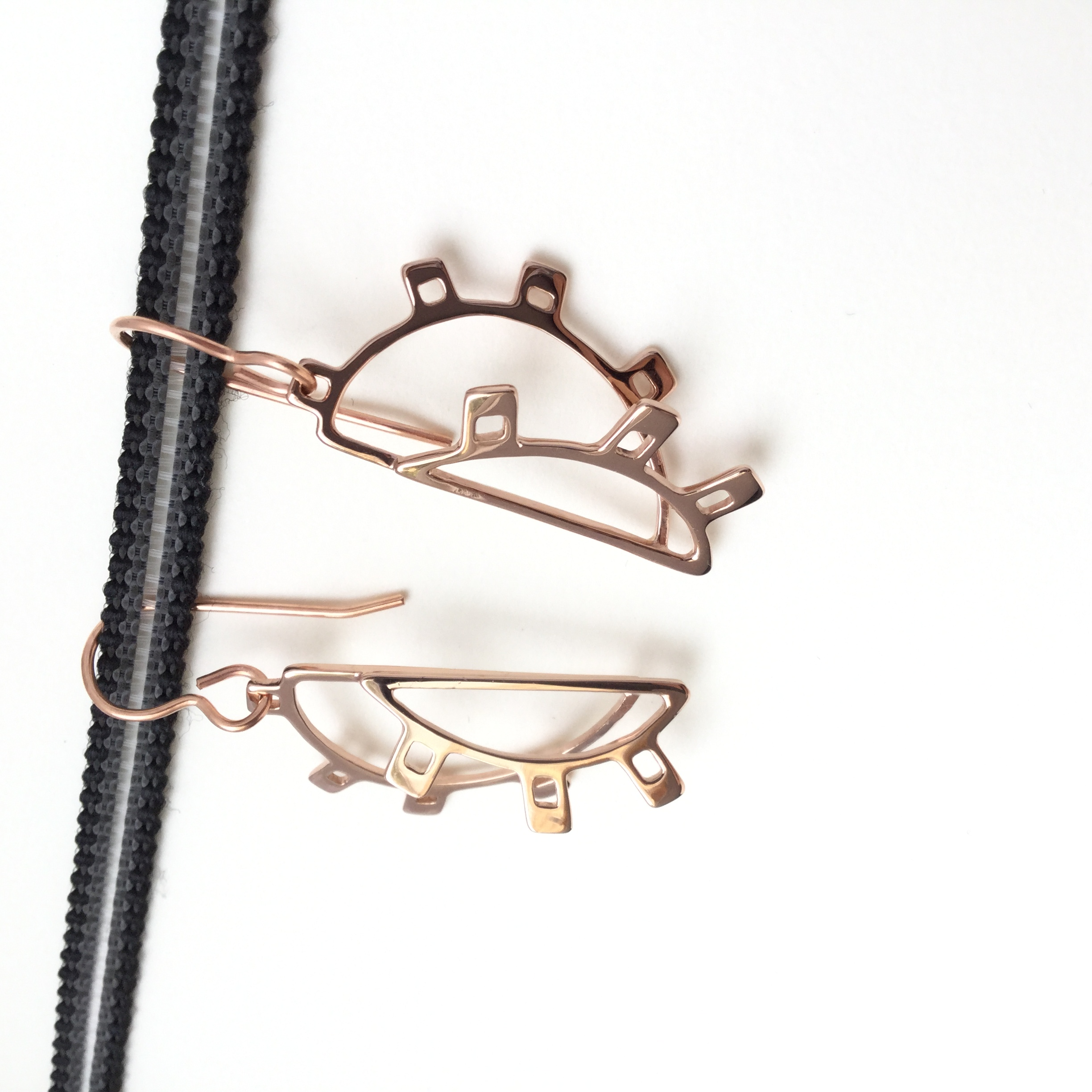 Doha Rose Gold Plated Earrings