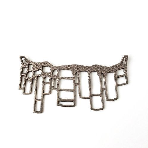 Unusual coastline necklace