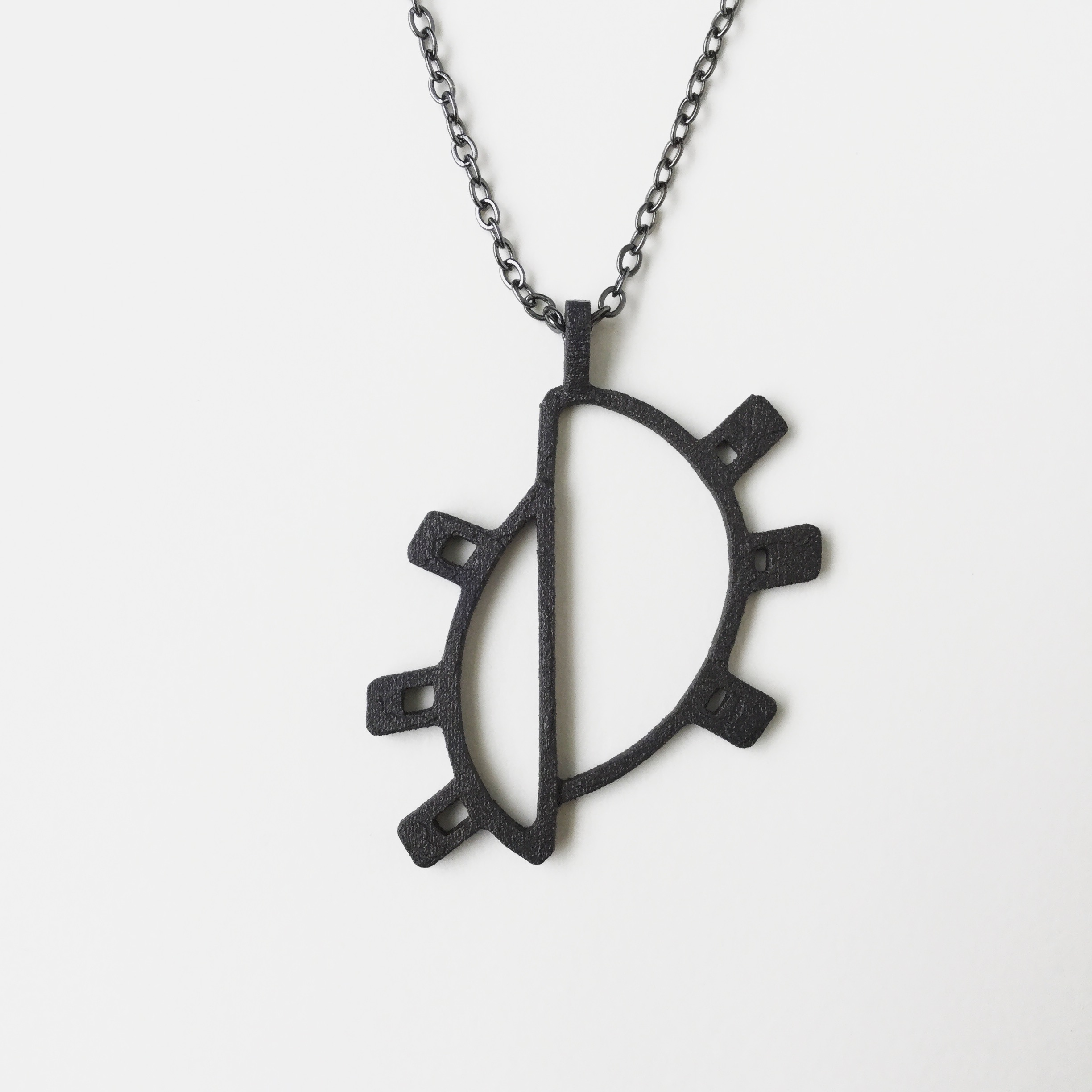 Doha Sun Pendant in Steel