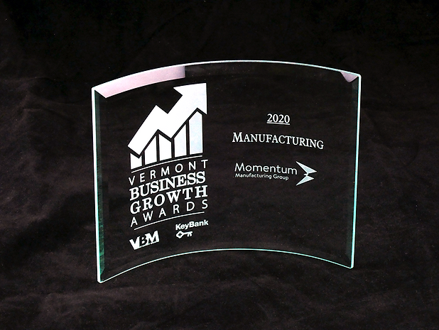 Momentum Manufacturing Group Awarded 2020 Vermont Business Growth Award