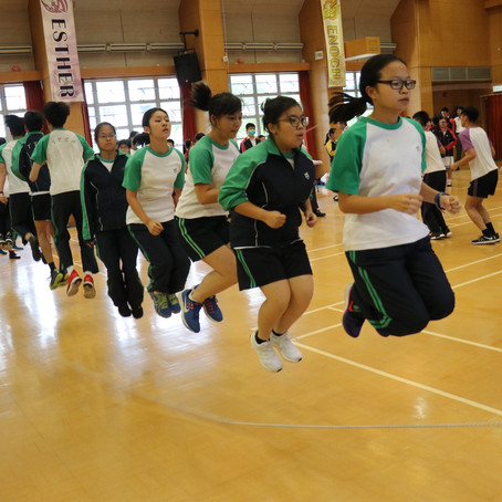 Inter-house rope skipping competition