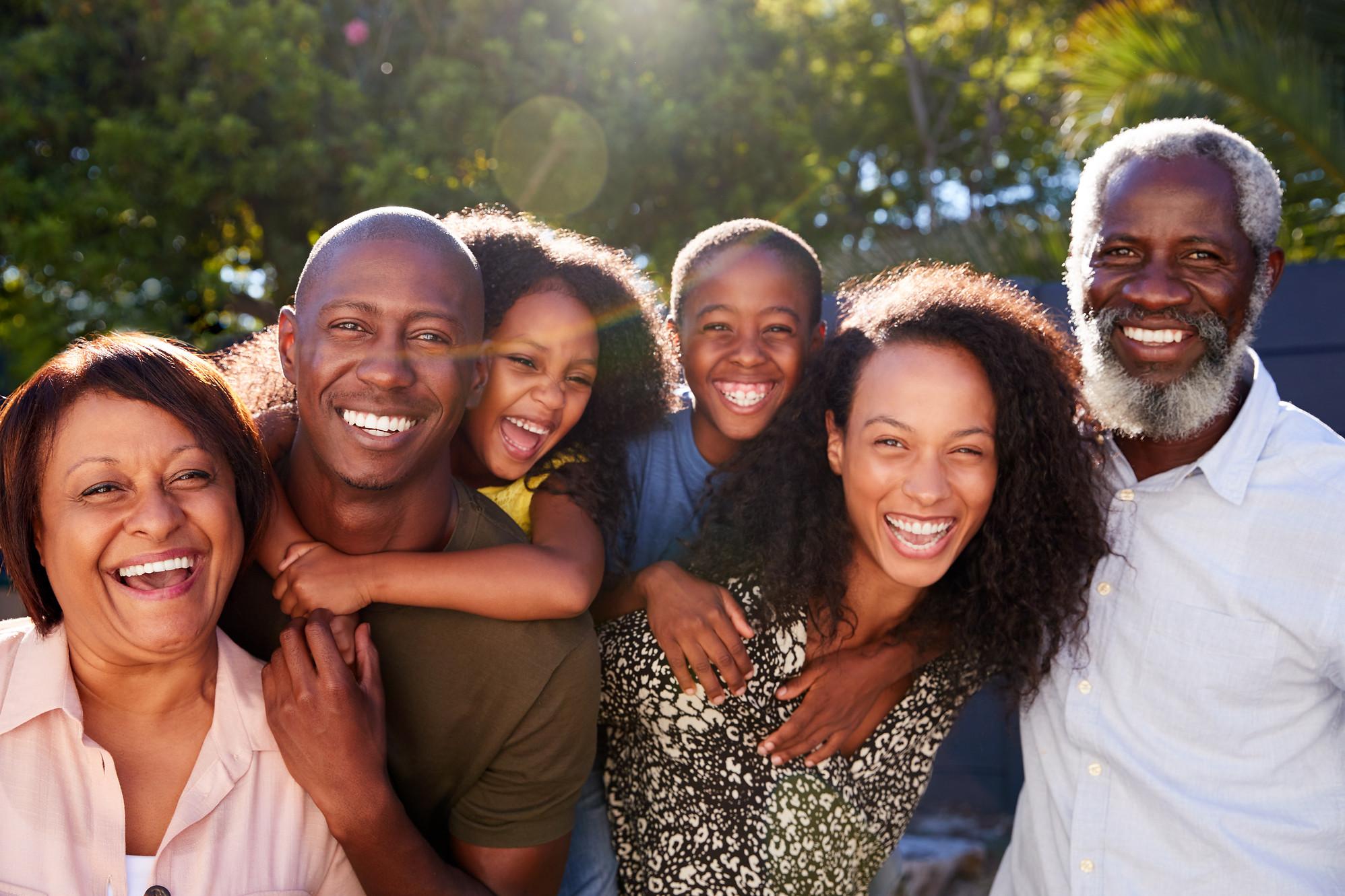 Multi generational black family - shutte