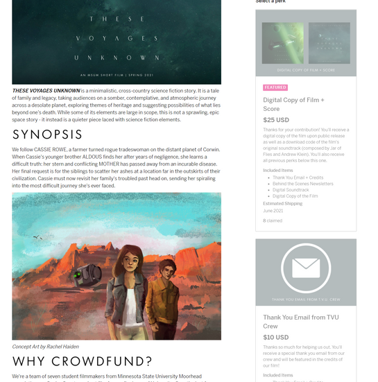 These Voyages Unknown: Indiegogo Campaign (6)