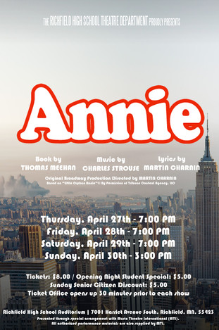 RICHFIELD SENIOR HIGH SCHOOL // Annie, April 2017