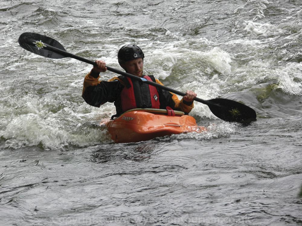 Canoeing at Symonds Yat rapids
