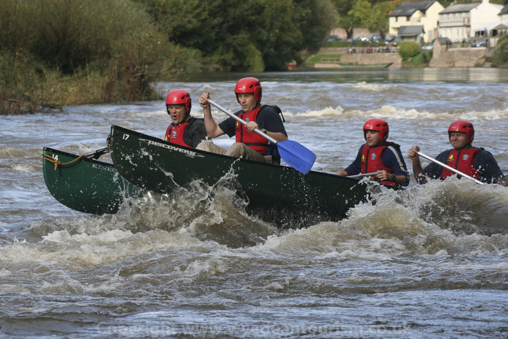 Wild water rafting on the river Wye