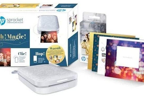 HP Sprocket Grise 200+1 Pack Papier Zink 20 Feuilles+1 kit 6 Cartes