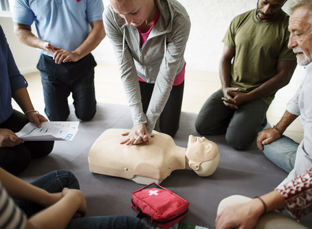Our first aid at work course is coming up