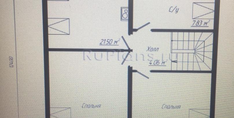 арх решение дом блок до 150 2этаж- обрез