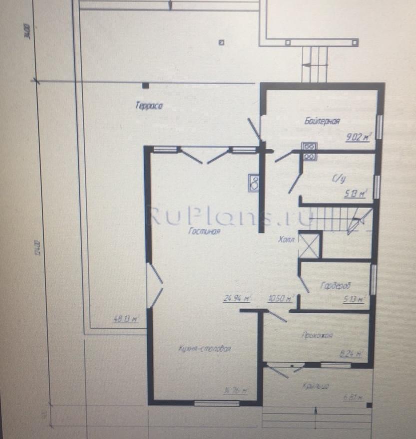 арх решение дом блок до 150 1этаж- обрез
