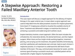 Oral Health Journal - 2016 Publication