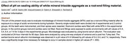 Dr. Ali Fatemi - Effect of pH on sealing ability of white mineral trioxide aggregate