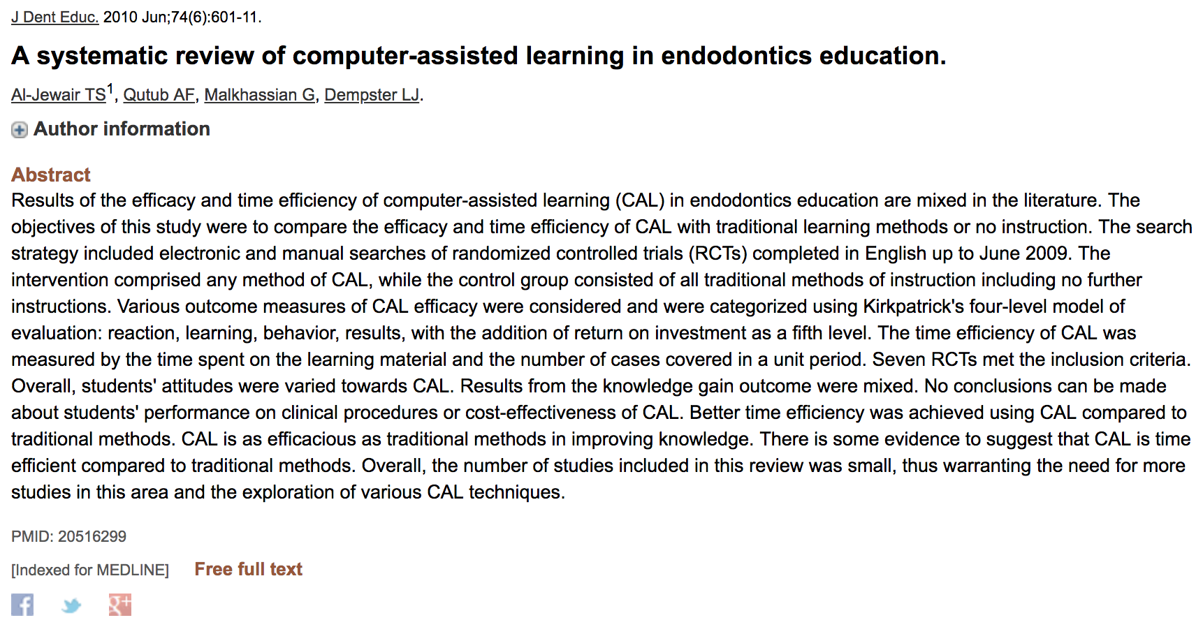 Dr. Gevik Malkhassian - A systematic review of computer-assisted learning in endodontics education