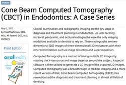Dr. Ali Fatemi - Cone Beam Computed Tomography (CBCT) in Endodontics: A Case Series