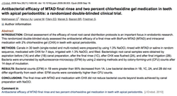 Dr. Gevik Malkhassian - Antibacterial efficacy of MTAD final rinse and two percent chlorhexidine gel