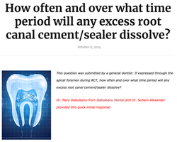Dr. Mary Dabuleanu - Dissolving rate of Excess Root Canal Cement and Sealer