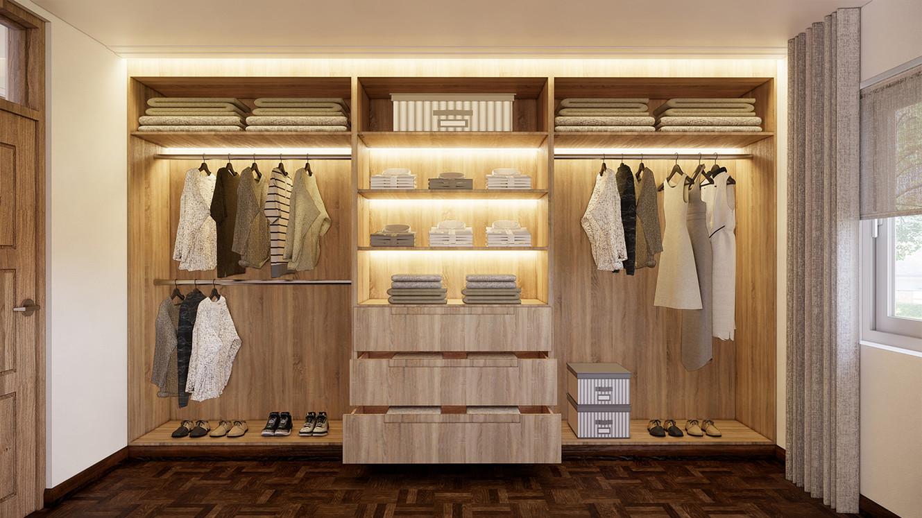 Wardrobes - open