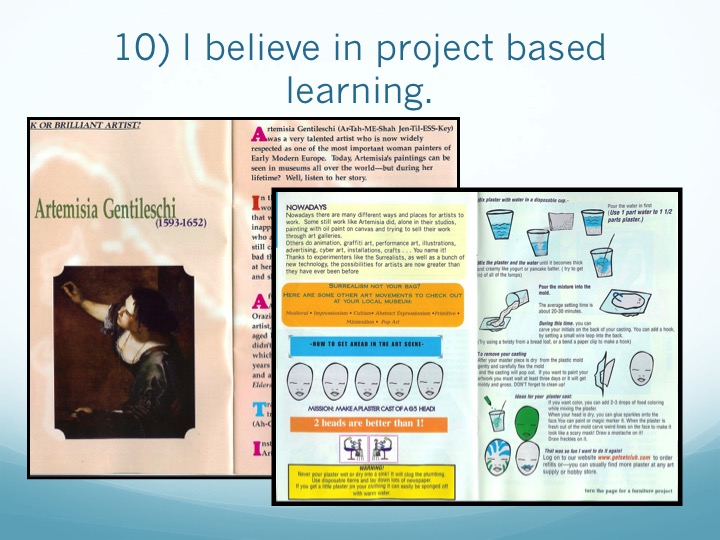 supported by reading and projects