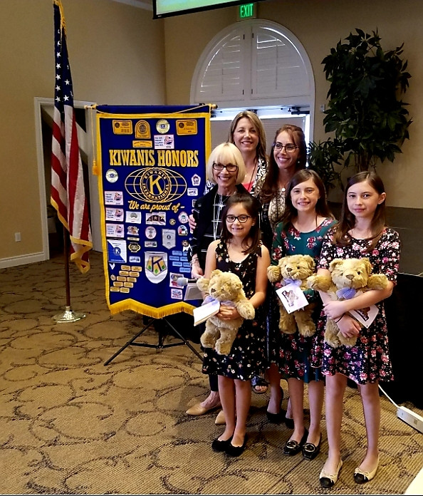 This shows my daughters and I being Comfort Cub ambassadors and talking about The Comfort Cub to the Kiwanis Club where we received a small grant.