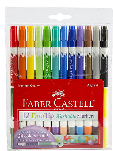 Faber Castell 12 Duo Tip Washable Markers