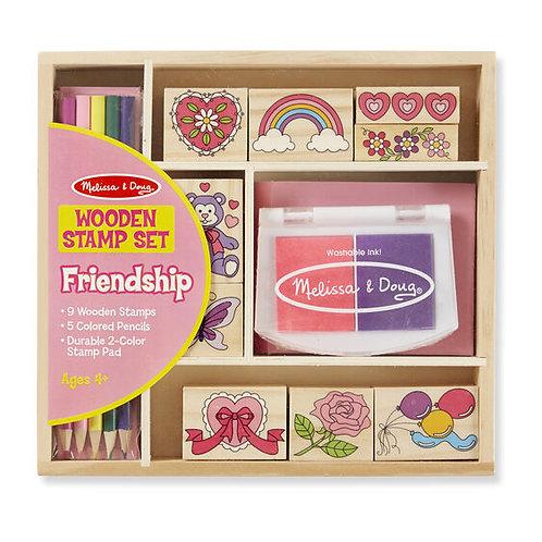 Friendship Wooden Stamp Set