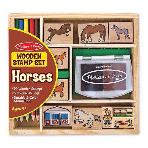 Horses Wooden Stamp Set