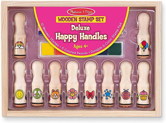 Happy Handles Wooden Stamp Set Pink