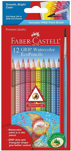 12 GRIP Watercolor EcoPencils