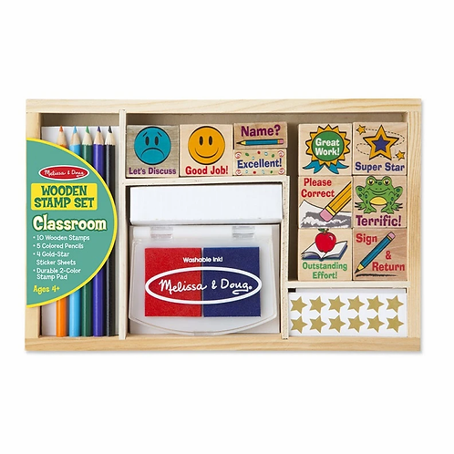 Wooden Classroom Stamp Set