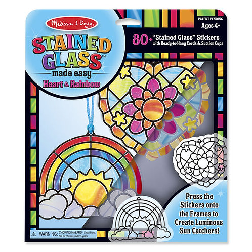 Stained Glass Made Easy Heart and Rainbow