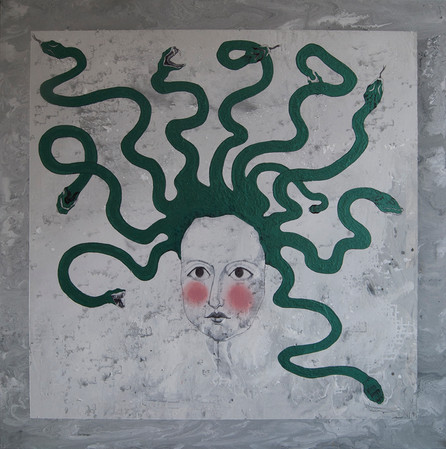Untitled. The girl that I don't like), 150x150cm, acrylic on canvas
