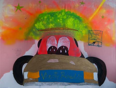Vice City Romantic, 150x200cm, acrylic on canvas