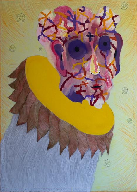Follower, 140x100cm, acrylic and crayon on canvas