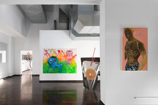 """from the left: Øleg&Kaśka """"The Dream"""", Anna Raczyńska """"DASH"""", Michał Sosiński, """"Wojciech, mieszka w Londyn"""". Photo:Bartosz Górka"""