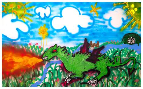 Bad Dragon, 130x190, acrylic on canvas