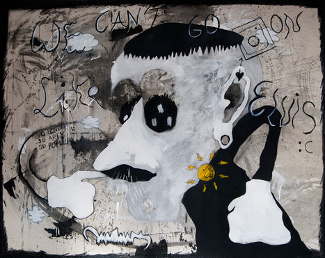 Suspicious Mind, 160x200cm, acrylic on canvas