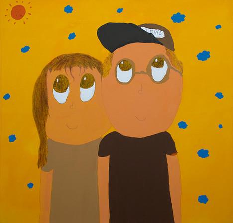 Zuza&Mati, 135x130cm, acrylic on canvas