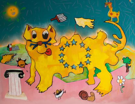 Nomadic Creature, 155x200cm, acrylic on canvas