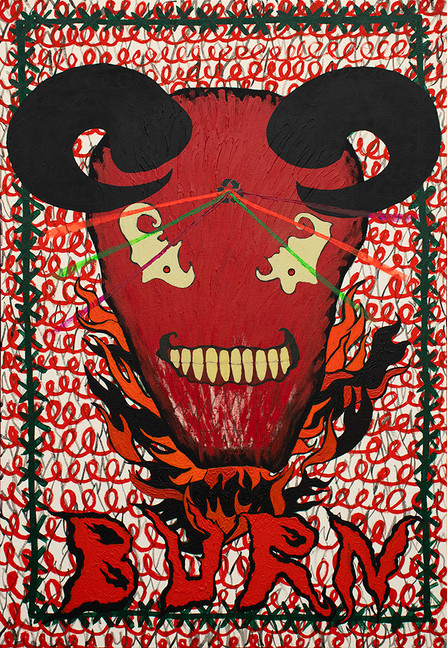 Burn, 130x90cm, acrylic on canvas