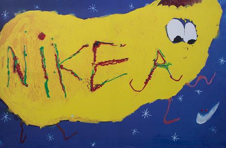 NIKEA, 105x160cm, print on canvas