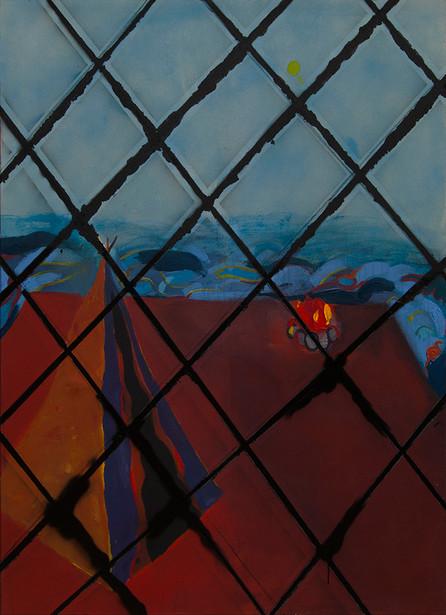 Tent, acrylic on canvas