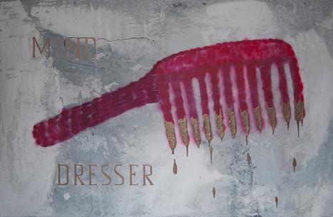 Mind Dresser, 130x200cm, acrylic and pen on canvas