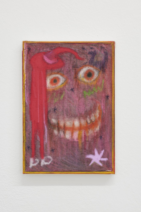 Untitled, 30x20cm, colour pencils and oil pastel on canvas, 2021.