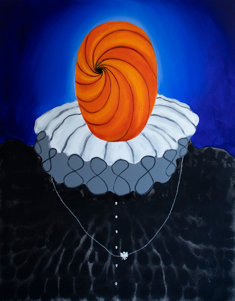 Teller of Tales, 140x110, acrylic and oil on canvas