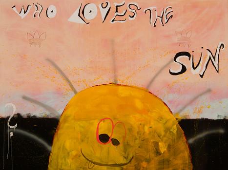 Who Loves the Sun, 150x200cm, acrylic on canvas