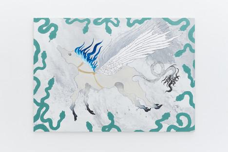 Pegasus, 120x170cm, acrylic and pen on canvas
