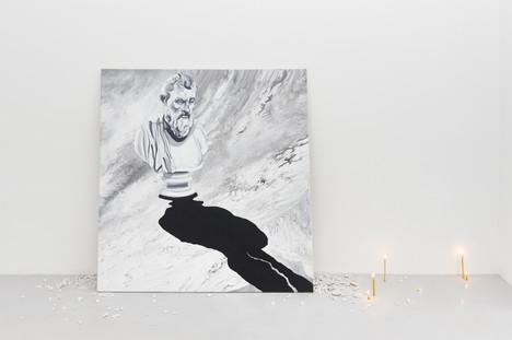 Philosopher, 115x110, acrylic and oil on canvas