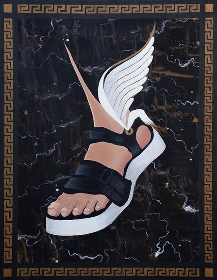 Hermes, 90x70cm, acrylic on canvas