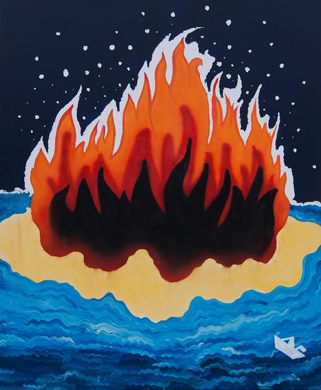 Take Me to Hawaii Baby, 180x140cm, acrylic on canvas