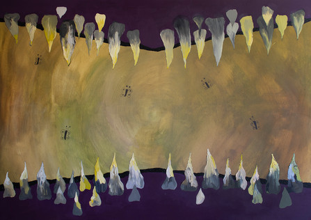 The Cave of Bad Dreams, 120x170cm, oil and pencil on canvas